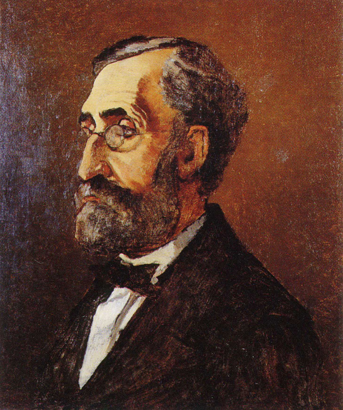 Claude Monet, 1865, CR53, portrait of a man, Adolphe Monet, 53x45cm, SUNJ New Brunswick