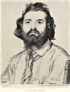 Félix Bracquemond, 1865, B9, portrait of Astruc, etch, 15x13, Metropolitan (iR5;iR61)