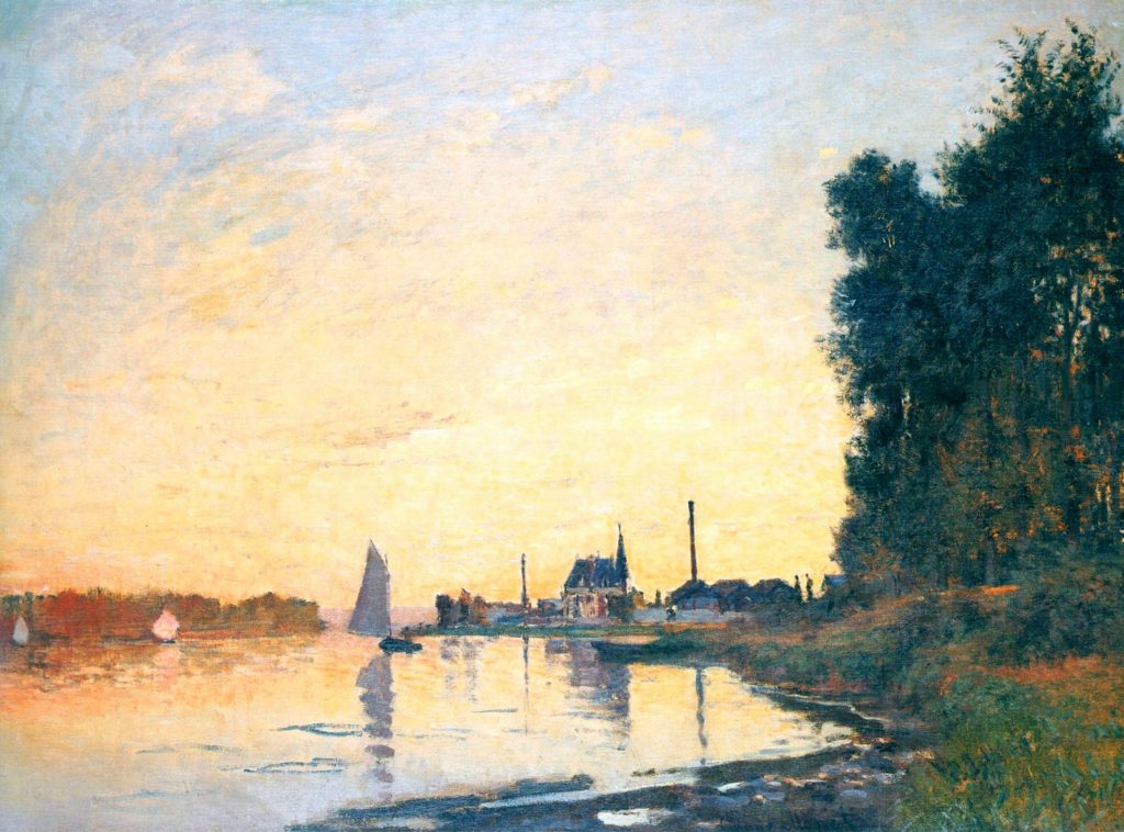 Claude Monet, 1872, CR224, Argenteuil, late afternoon, 60x81cm, private