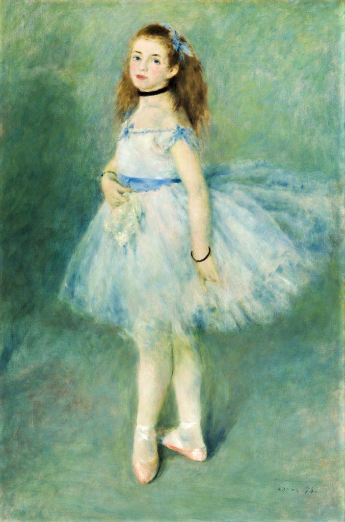 August Renoir, 1IE-1874-141, Danseuse. Now: 1874, CR110, The Dancer, 142x94, NGA Washington (iRx;R87,p251;R2,p140;R90II,p12+27;R108,CR110;R30,no126;R31,p197;M21,no1942.9.72)