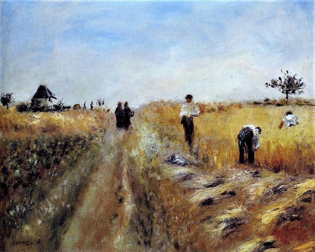 August Renoir, 1IE-1874-144, Moissonneurs. Probably: 1873, The Harvesters, 60x73, Bührle Zurich (iR2;R90II,p12+28;R2,p122;R30,no100;R87,p266;R90I,p29;M85)