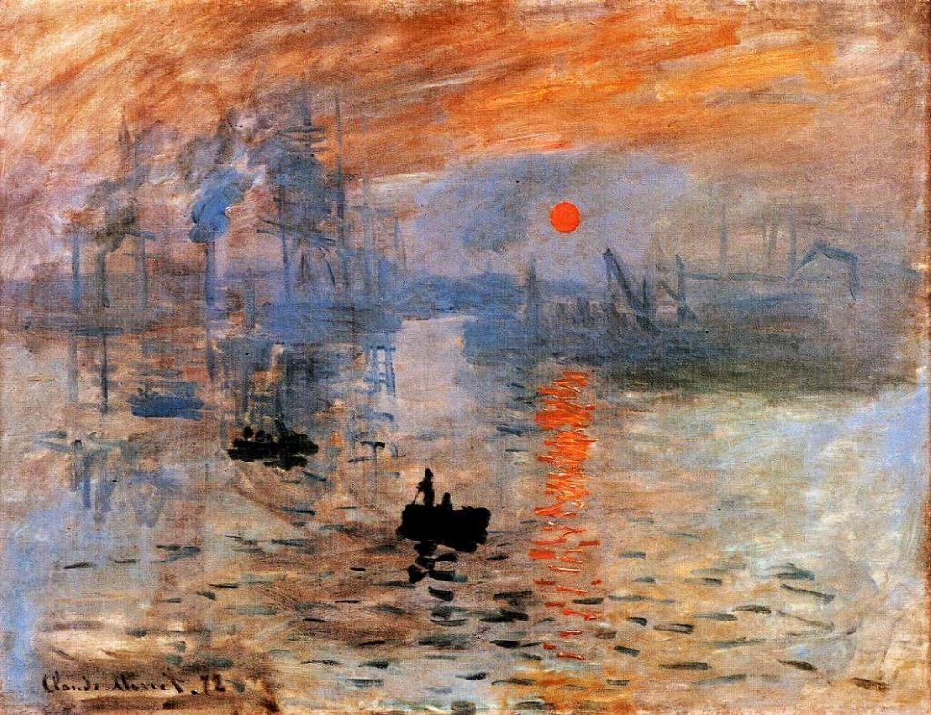Claude Monet, 1IE-1874-98, Impression, soleil levant = 1872-73, CR263, Le Havre, Impression, soleil levant, 48x63, Marmottan (iR2;R87,p243;R2,p92;R90II,p24;R22+R127,CR263;M2,no4014) 4IE-1879-146, Effet de brouillard, Impression