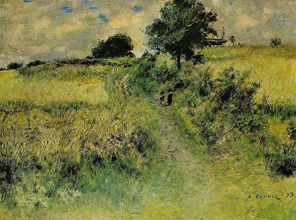August Renoir, 1IE-1874-147+hc??. Now: 1873, The Field (the drinking place), 47x62, private (iRx;R30,no.99)