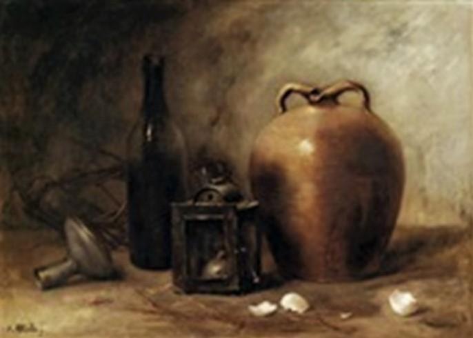 Antoine-Ferdinand Attendu, 18xx, Still-life, 58x78, Axx (iR13;iR1). Compare: SdAF-1884-53: La Terrine.