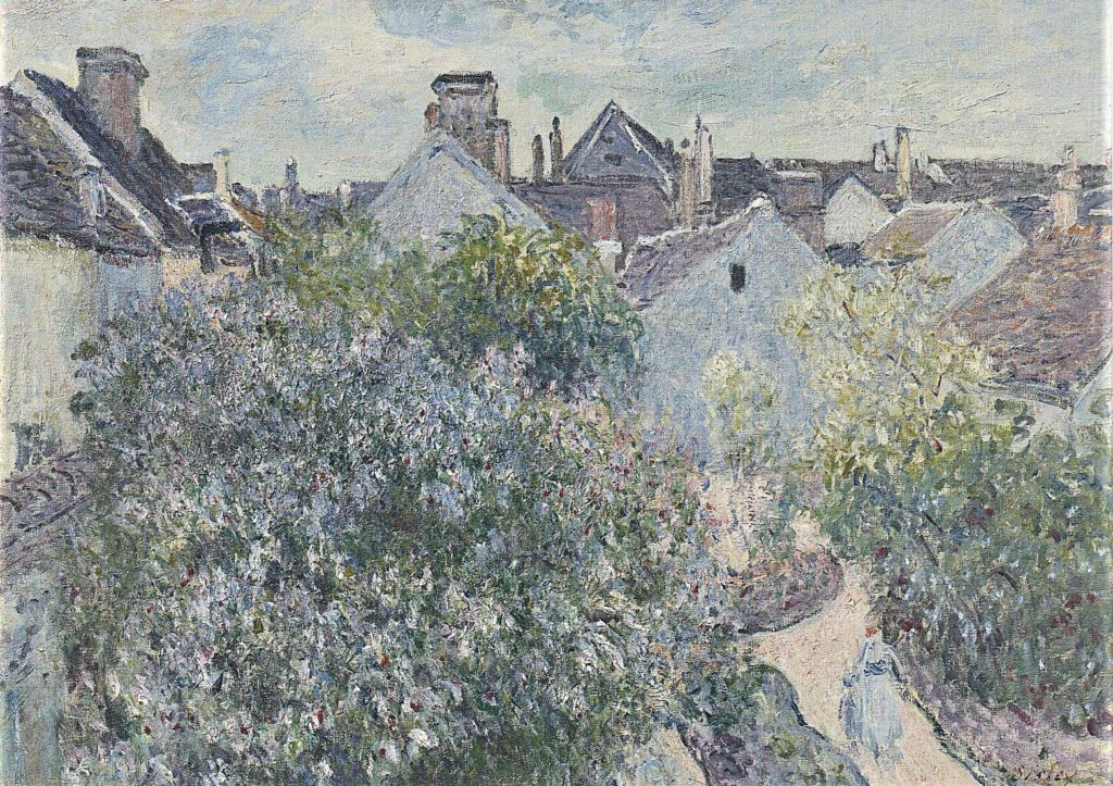 Alfred Sisley, 1892, Sisley's Home in Moret , 54x73, private