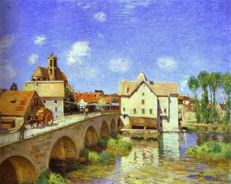 Alfred Sisley, 1893, The Bridge at Moret, Orsay