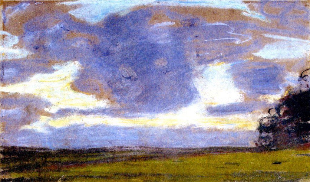 Claude Monet, 1IE-1874-100, Deux croquis (pastel). Maybe??: 1865ca, Twilight, 19x31, MBA Nantes (iR2;R2,p121;M16)