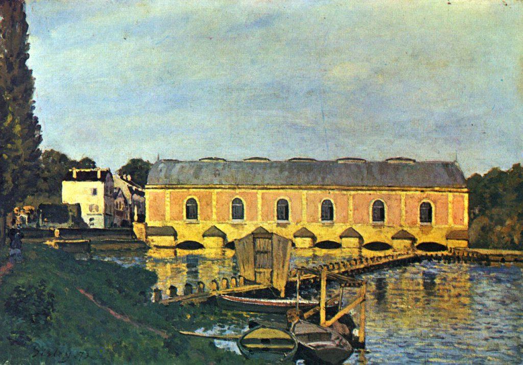 Alfred Sisley, 1IE-1874-163, La Seine à Port-Marly. Perhaps: 1873, CR67, La Machine de Marly , 45x65, NCG Copenhagen
