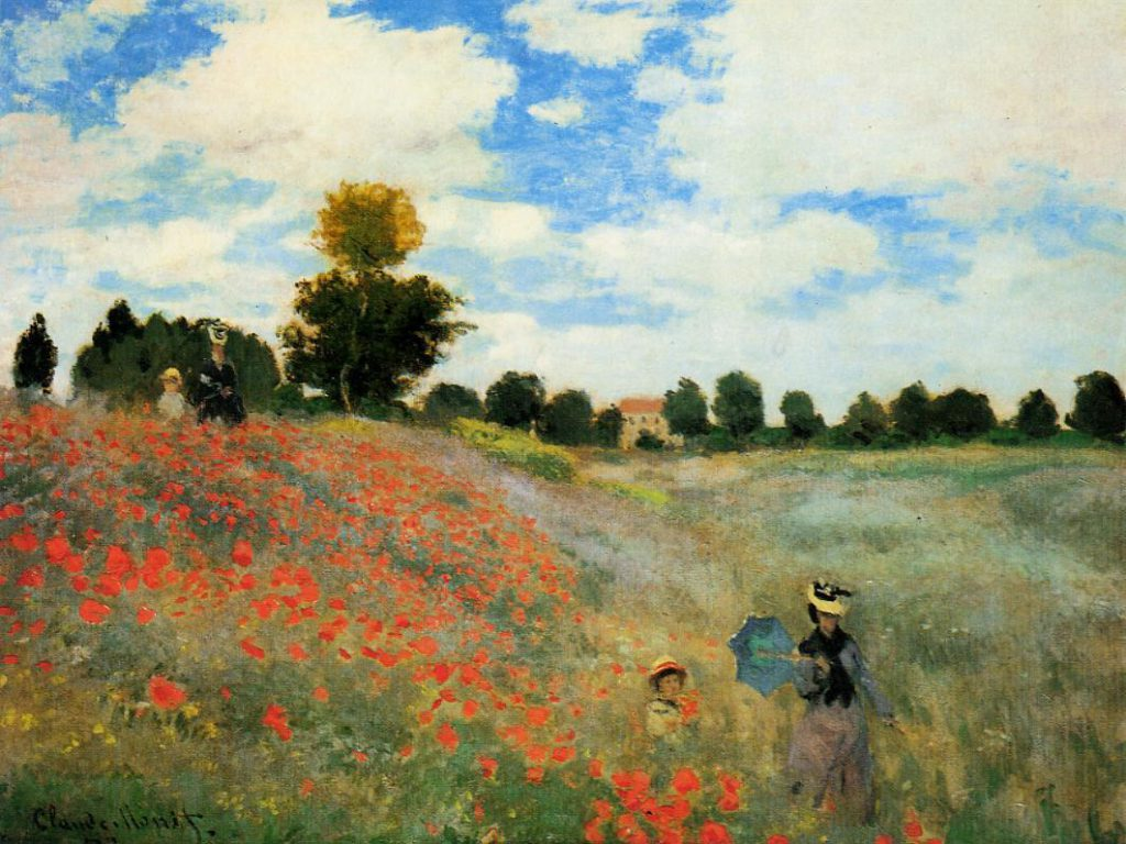 Claude Monet, 1IE-1874-95, Coquelicots = CR274, 1873, Poppies at Argenteuil, 50x65, Orsay (iRx;R87,p243;R2,p121;R90II,p24;R22+R127,CR274;M1,RF1676)