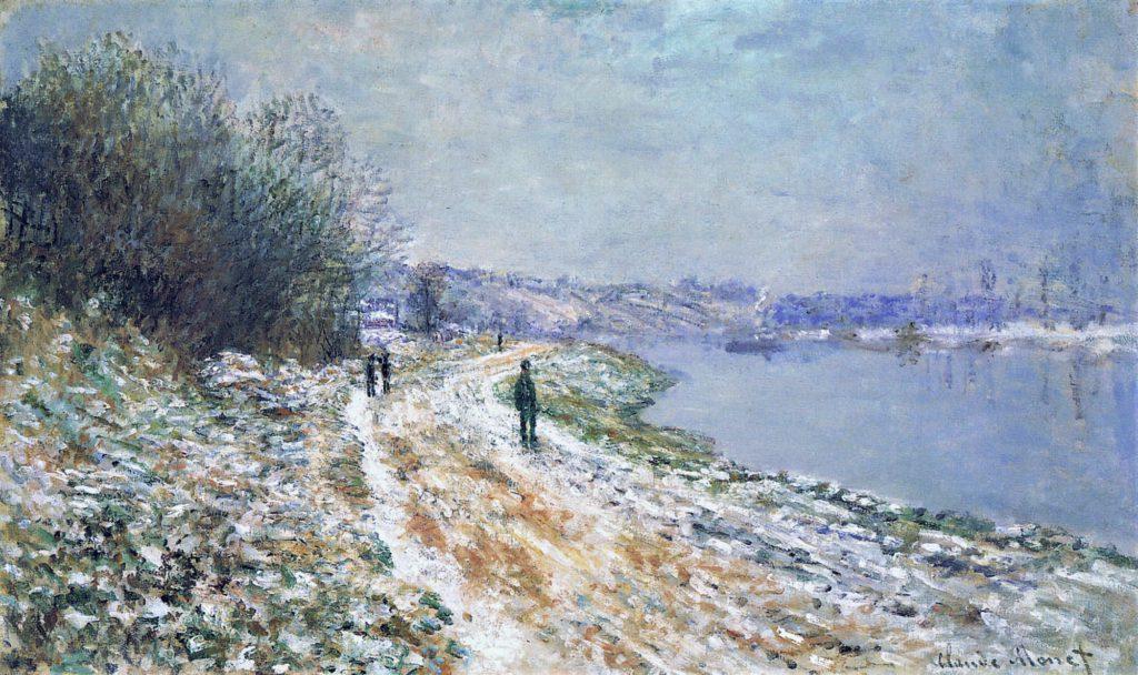 Claude Monet, 2IE-1876-150, Le chemin d'Epinay, effet de neige. Option of 2: 1875, CR389, The Lane in Epinay, snow effect, 60x105, AKAG Buffalo (iR51;R2,p162;R90II,p56;R22+R127,CR389;M34,no.19.8)