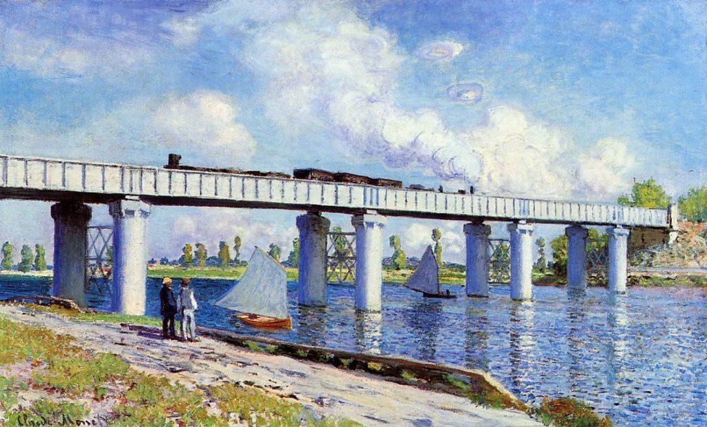Claude Monet, 2IE-1876-152, Le pont de chemin de fer (Argenteuil). Probably: CR279, 1873, The railway bridge at Argenteuil, 60x99cm, private (iR2;R2,p162;R90II57;R22+R127,CR279)