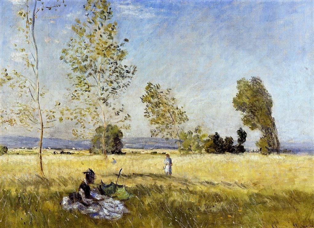 Claude Monet, 2IE-1876-154, La prairie = CR341, 1874, Meadow at Bezons, 57x80, NG Berlin (iR2;R2,p153;R90II,p57;R22+R127,CR341;M52,no1146/AI1013) = HD1875/03/24