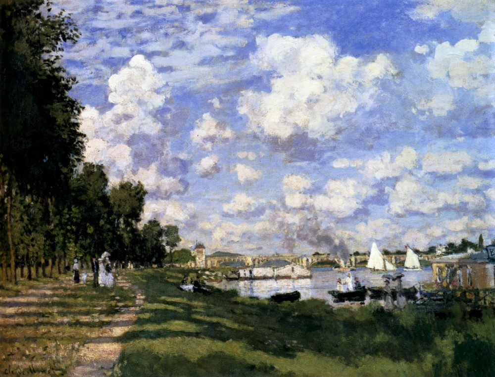 Claude Monet, 2IE-1876-157, La Berge d'Argenteuil. Maybe?: 1872, CR225, (Le Bassin) The port at Argenteuil, 60x81, Orsay (iR51;R90II,p41;R22+R127,CR225;M1,RF2010)