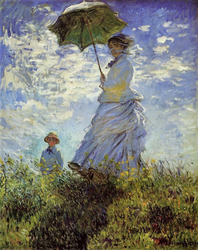 Claude Monet, 2IE-1876-161, La promenade = 1875, CR381, The walk (Woman with a parasol), 100x81, NGA Washington (iR2;R2,p181;R90II,p58;R22+R127,CR381;M21,no1983.1.29)
