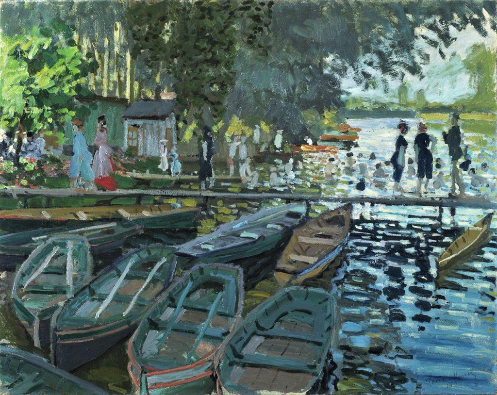 Claude Monet, 2IE-1876-164, Les bains de la Grenouillière. Compare: CR135, 1869, Bathers at La Grenouillère, 73x92, NG London (iRx;R22+R127,CR136;M61,no6456)