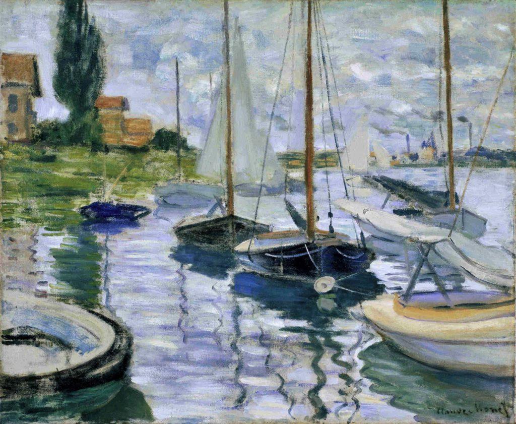 Claude Monet, 2IE-1876-165, Bateaux de pêche (etude). Maybe??: 1872, CR227, Boats moored at Le Petit-Gennevilliers, 54x65, FAM San Francisco (iR51;R22+R127,CR227;M30-2,no.1962.23)