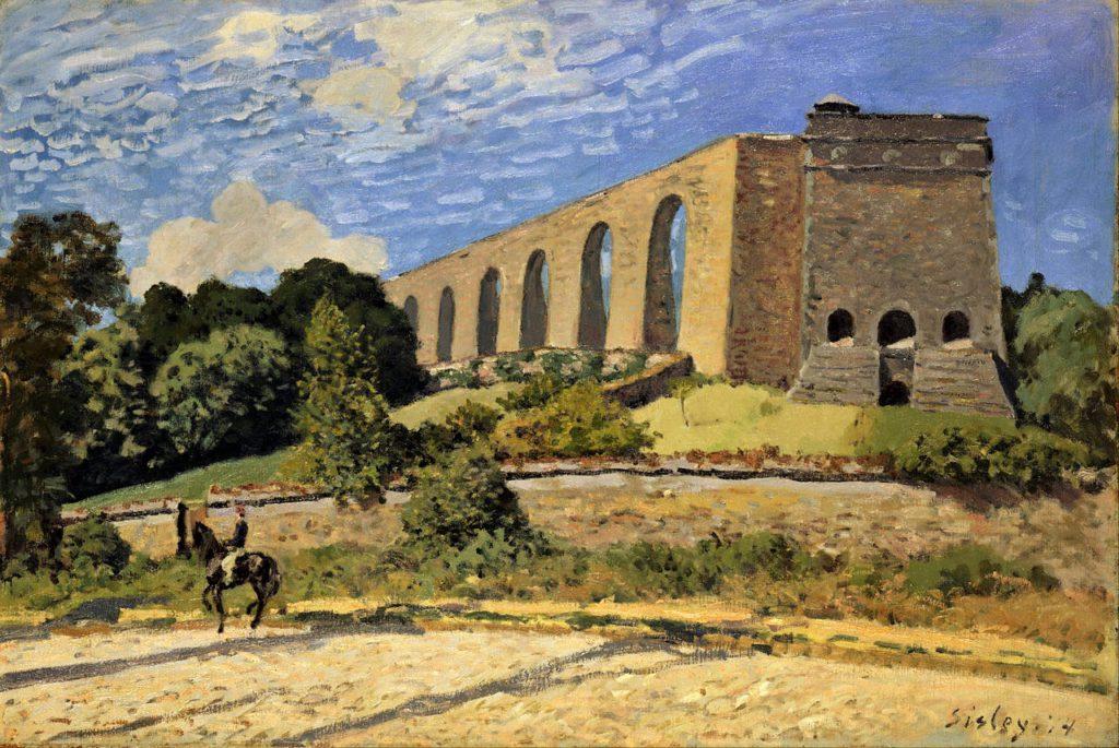 Alfred Sisley, 2IE-1876-242, Le Chemin des Aqueducs. Option 2: CR133, 1874, L'Aqueduc de Marly , 54x81, Toledo MA