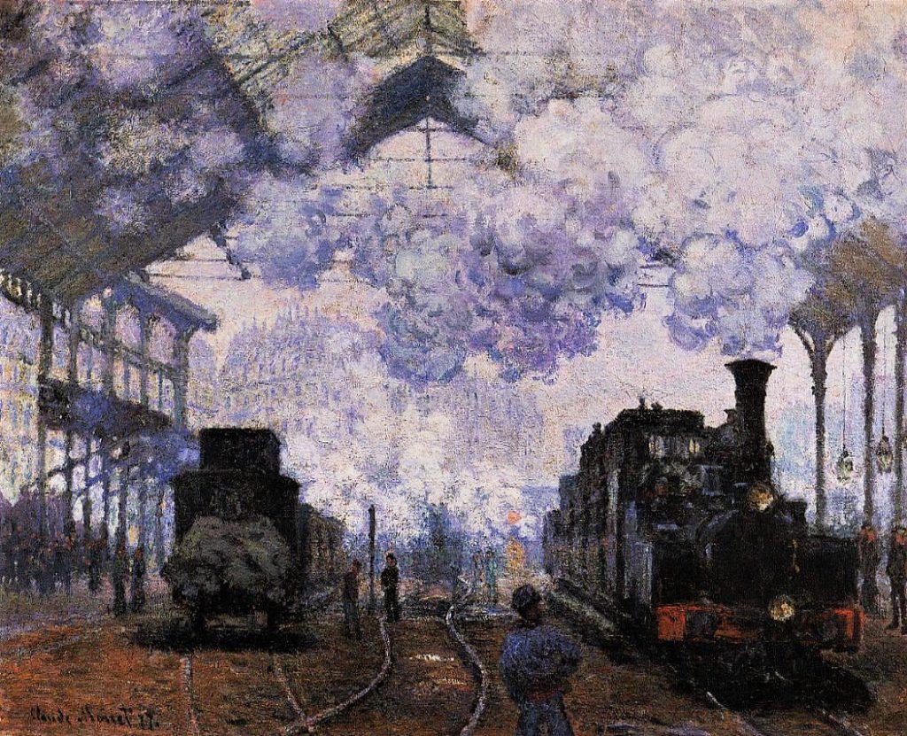 Claude Monet, 3IE-1877-97, Arrivée du train de Normandie, gare St-Lazare, appartient à M. H… Probably: CR439, 1876, Arrival at Saint-Lazare Station, 82x101, FAM Cambridge (iR2;M32,no.1951.53). Mostly suggested for no.100 (R22,CR439;R2,p222;R90II,p94)