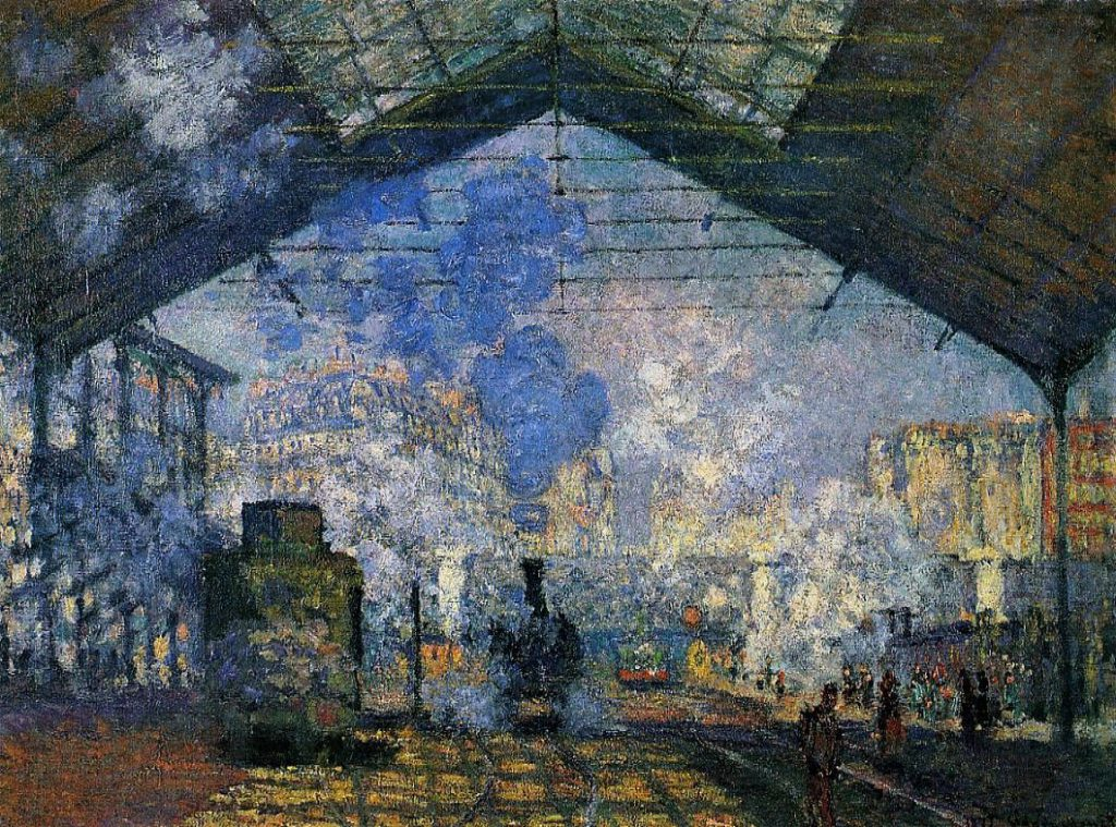 Claude Monet, 3IE-1877-102, Vue Intérieur de la Gare St-Lazare, à Paris Now: CR438, 1877, Saint-Lazare station, 75x100, Orsay