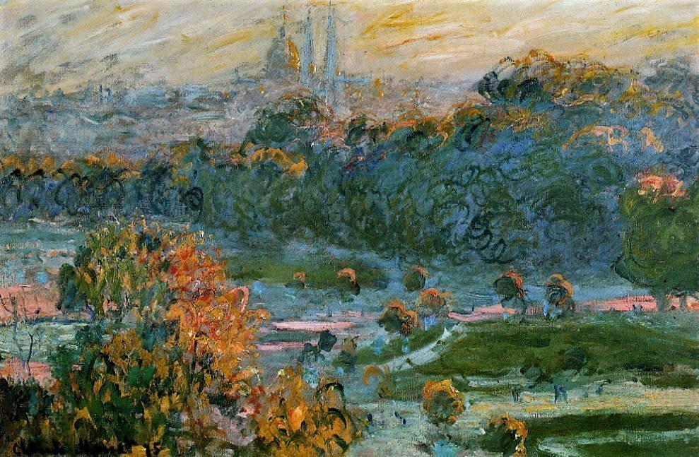 Claude Monet, 3IE-1877-105 Tuileries, esquisse = CR403, 1875-76, The Tuileries (study), 50x74, Orsay (iR2;R22+R127,CR403;R2,p205;R90II,p95;M1,RF2705)