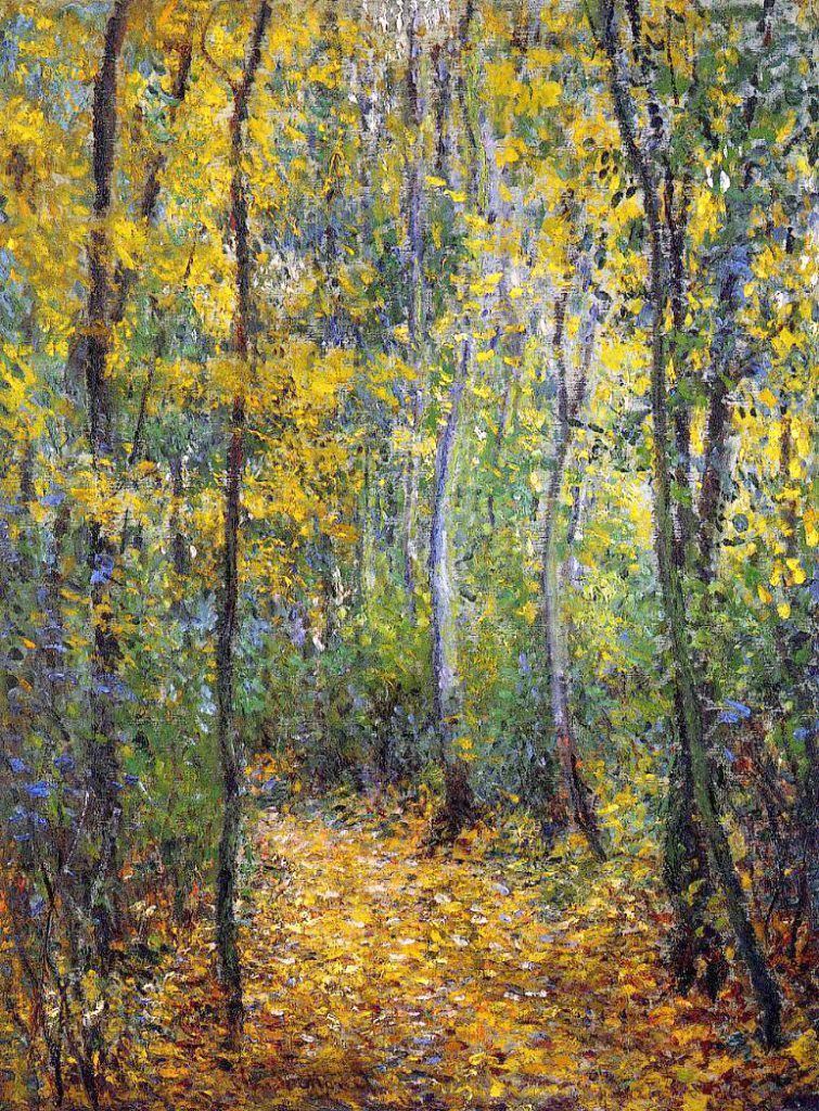 Claude Monet, 3IE-1877-108, Effet d'Automne à Montgeron = 1876, CR431, Sous-bois (Wood Lane), 73x54, private (iR51;R22;R90II,p95;R2,p205)