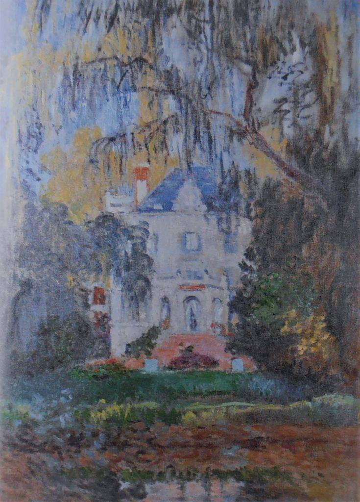 Claude Monet, 3IE-1877-109, Le châlet. Maybe: CR422, 1876, the house at Yerres, 80x61, private (iRx;R22+R127,CR422;R2,p205)