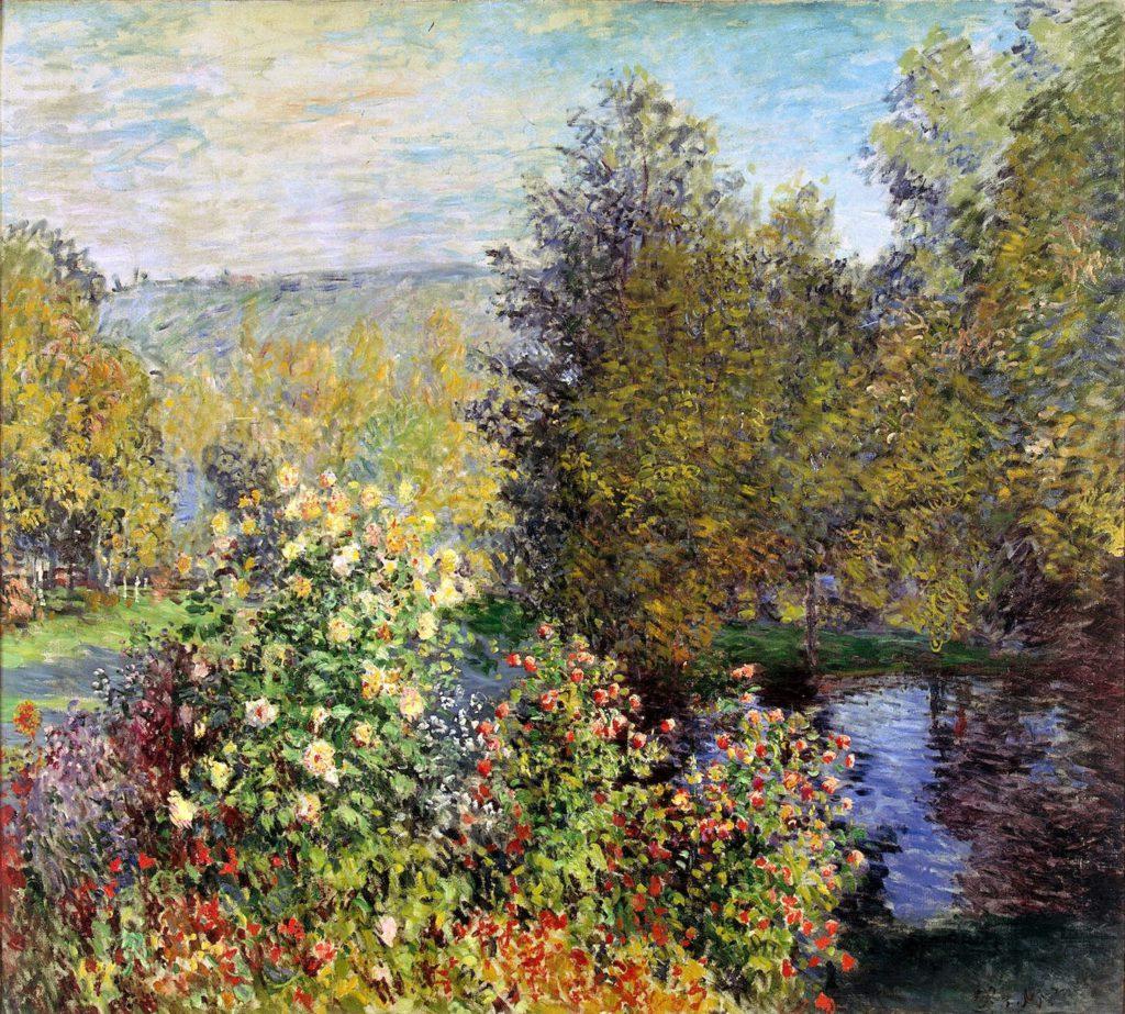 Claude Monet, 3IE-1877-112, Un jardin. Maybe: 1877, CR418, A Corner of the Garden at Montgeron, 172x193, Hermitage (iR51;R2,p205;R22+R127,CR418;M95,no.9152)