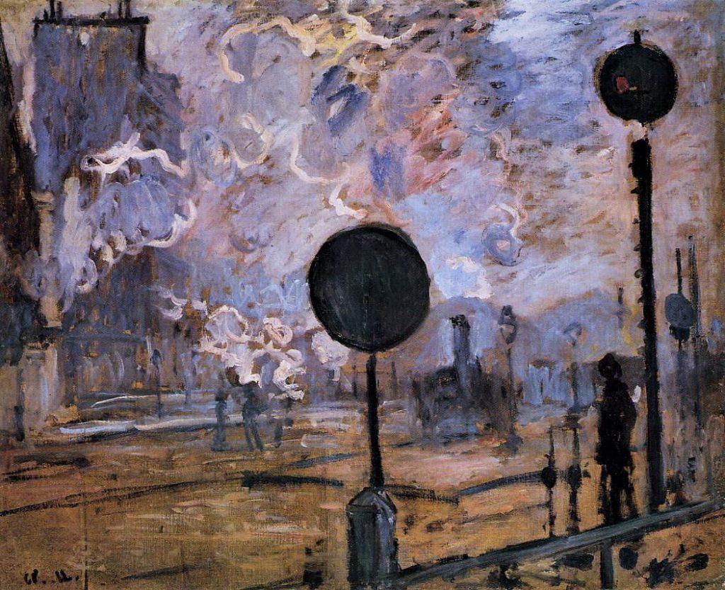 Claude Monet, 3IE-1877-119+hc, La gare Saint-Lazare à l'exterieur. Probably: CR448, 1877, Exterior of Saint-Lazare Station(The Signal), 65x82, NLm Hanover (iR2;R90I,p139+187;R90II,p96;R2,p205;R22+R127,CR448;M56,no.PNM941)