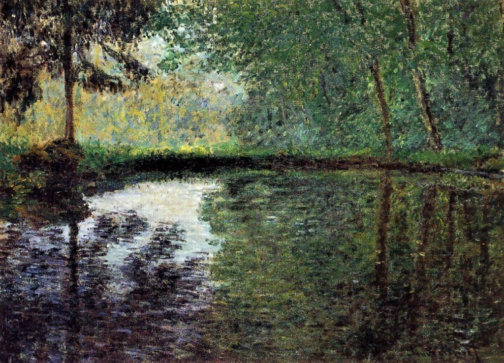 Claude Monet, 3IE-1877-91, La mare à Montgeron. Probably: 1876, CR419, The Pond at Montgeron (study), 60x82, private (iR51;R2,p205;R90II,p93;R22+R127,CR419)