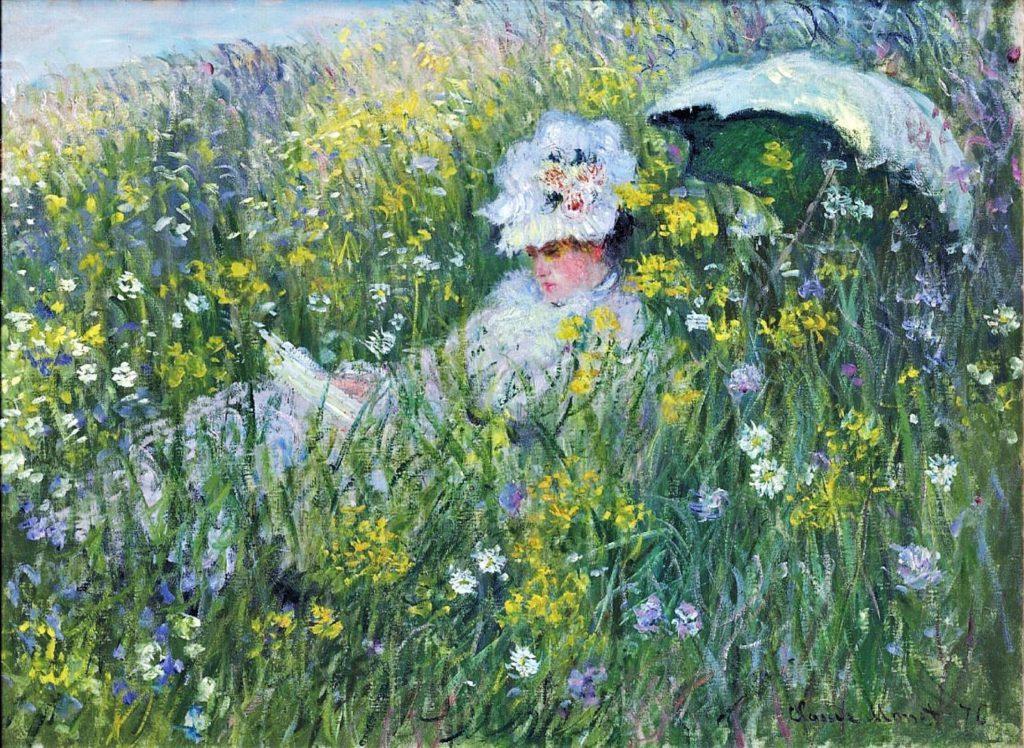 Claude Monet, 3IE-1877-94, Prairie = 1876, CR405, In the Meadow, 60x82, private (iR51;R22+R127,CR405;R2,p205;R90II,p93)