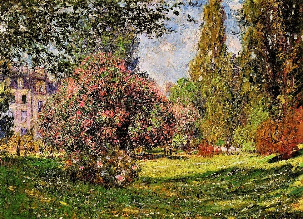 Claude Monet, 3IE-1877-96, Paysage, Le parc Monceau (app. à M. Bellio) = CR398, 1876, The Parc Monceau, Paris, 60x81, Metropolitan (iR2;R22+R127,CR398;R2,p221;R90II,p94;M23,no.59.206)