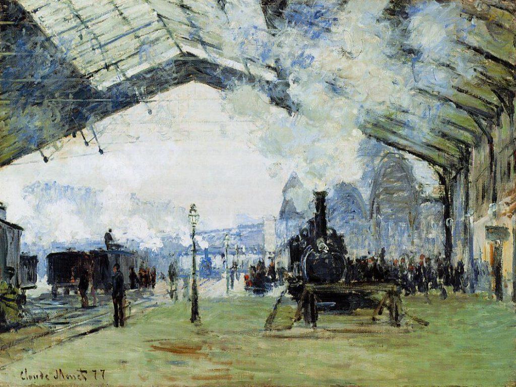 Claude Monet, 3IE-1877-100, La gare St-Lazare, arrivée d'un train, app M. H... Probably: CR440, 1877, Saint-Lazare station, the Normandy train, 60x80, AI Chicago (iR2;R90I,p130+180;M20,no.1933.1158) Mostly suggested for no.97 (R22,CR440;R2,p222;R90II,p94)