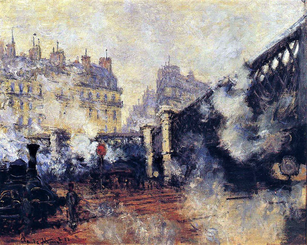 Claude Monet, 3IE-1877-98, Le pont de Rome (Gare St-Lazare) = CR442, 1877, Le Pont de l'Europe, Saint-Lazare Station, 64x81, Marmottan (iR2;R22+R127,CR442;R2,p224;R90II,p94;M2,no.4015)