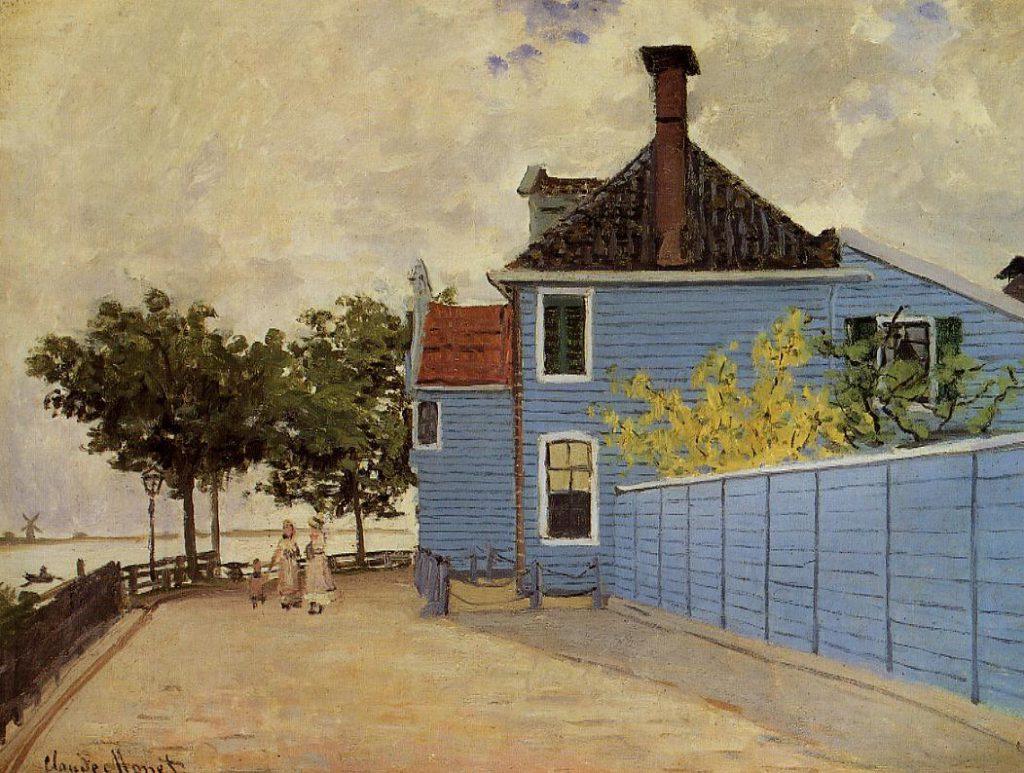 Claude Monet, 4IE-1879-138, Habitation bourgeoise, à Zaandam (Hollande) = 1871, CR184, The Blue House at Zaandam, 45x61, private (iR2;R2+R127,CR184;R2,p268;R90II,p132)