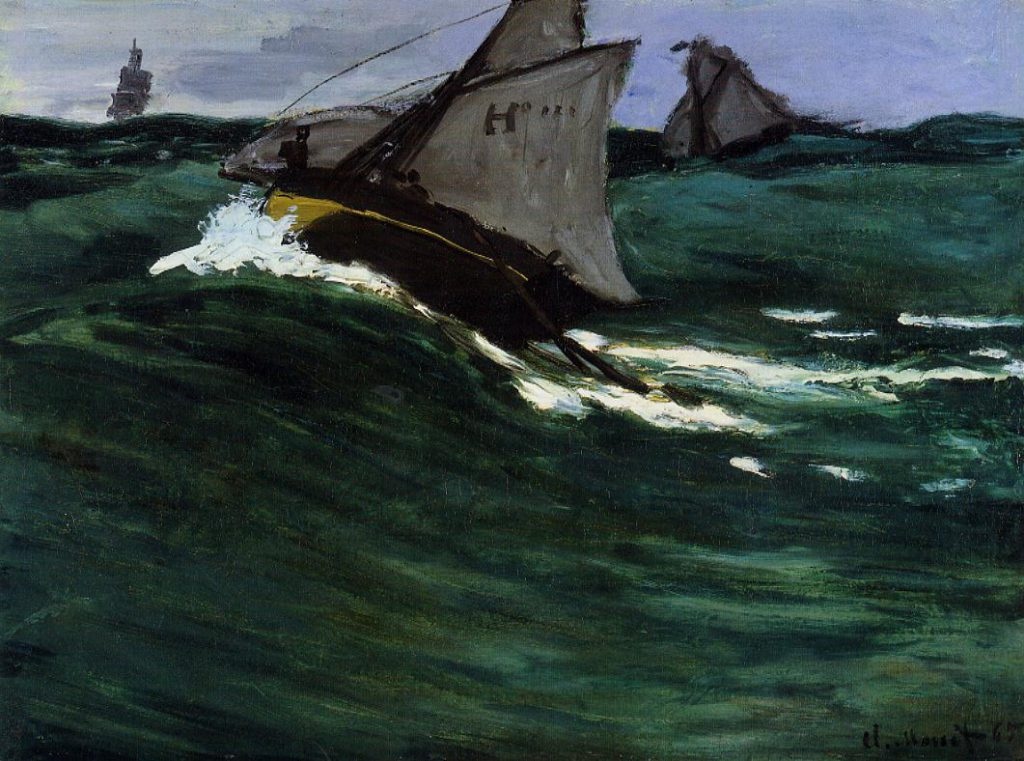 Claude Monet, 4IE-1879-140 Marine (1875). Probably: CR73, 1865, The Green Wave, 49x65, Metropolitan (iR2;R2,p265;R90II,p133;R22+R127,no73;M23,no.29.100.111)