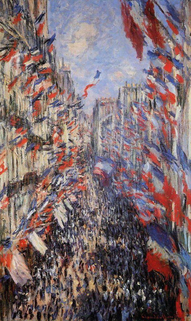 Claude Monet, 4IE-1879-145 La rue Montergeuil, fête du 30 juin = CR469, 1878, The Rue Montorgeuil, 30th of June 1878, 80x50, Orsay (iR2;R22+R127,CR469;R2,p245;R90II,p134;M1,RF1982.71)
