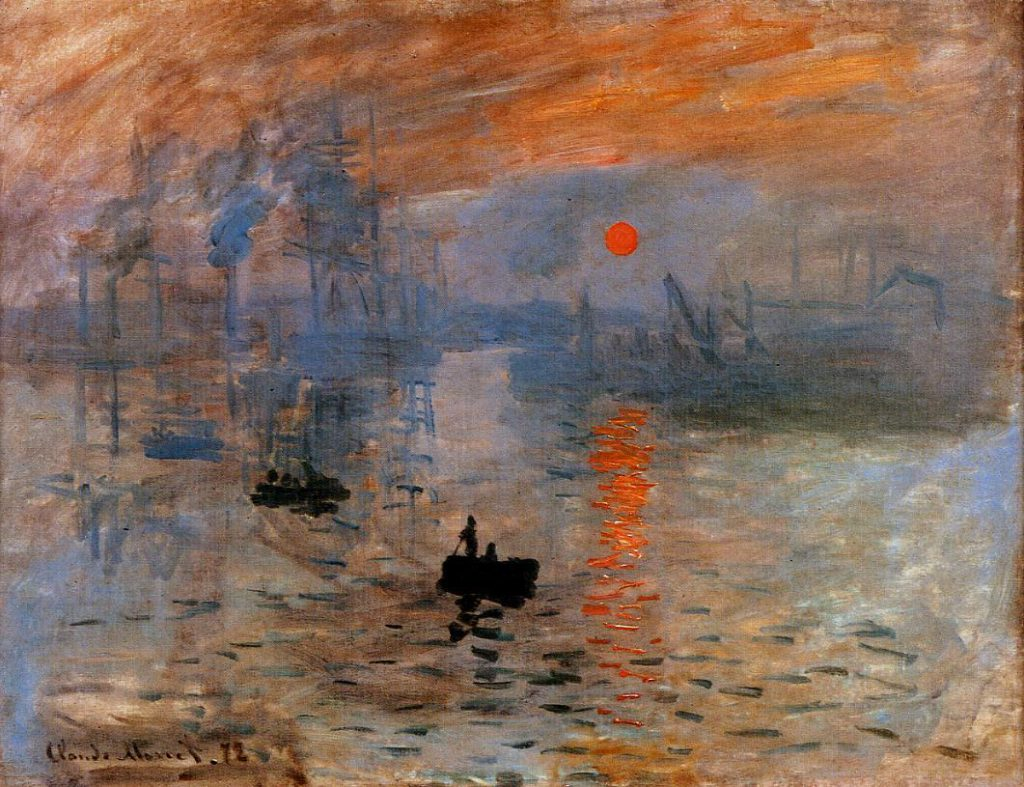 Claude Monet, 4IE-1879-146, Effet de brouillard, Impression = CR263, 1872-73, Le Havre, Impression, sunrise, 48x63, Paris, Marmottan (iR2;R90II,p134;R2,p269;R22+R127,CR263;M2,no.4014) =1IE-1874-98, Impression, soleil levant.