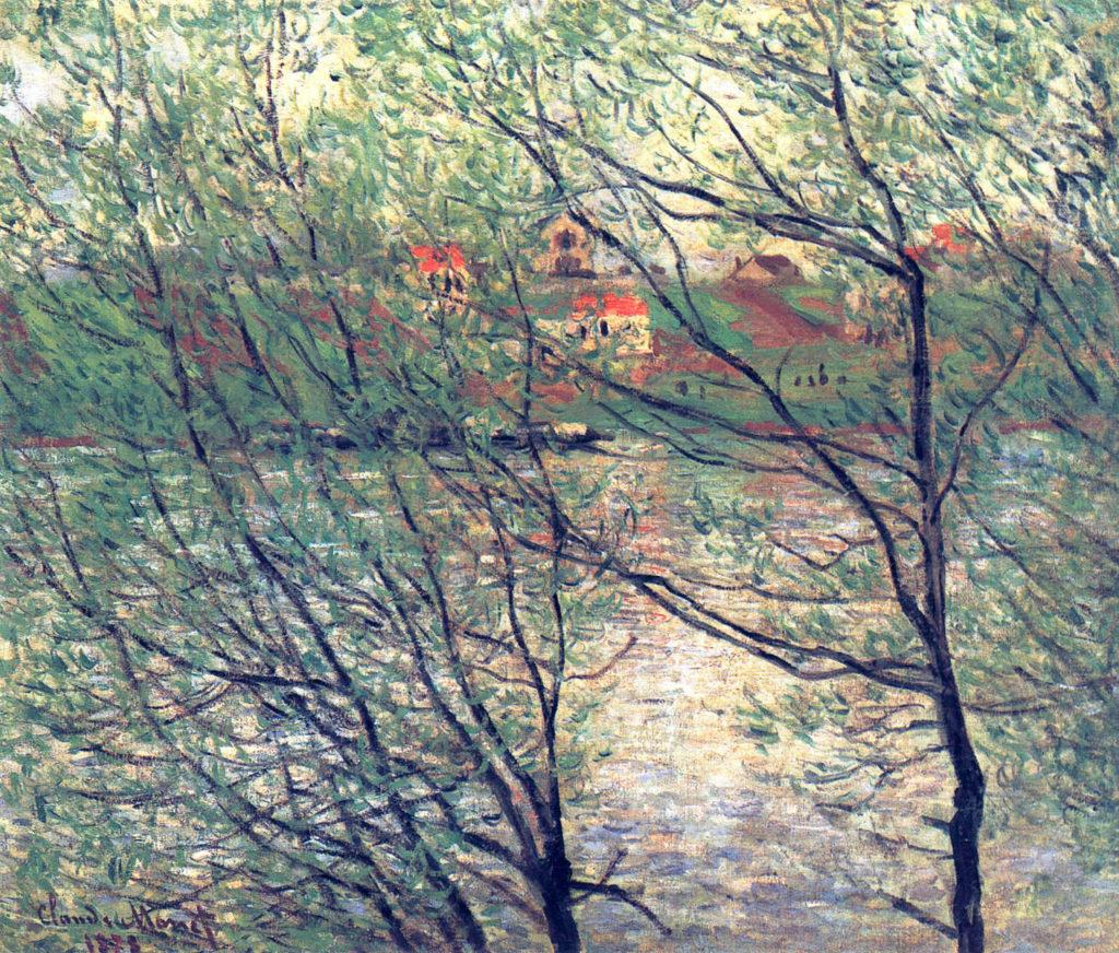 Claude Monet, 4IE-1879-153, Bords de la Seine, environs de Paris = CR456, 1878, Île de la Grande Jatte, 54x65, private (iR51;R22+R127,CR456;R90II,p135;R2,p269)