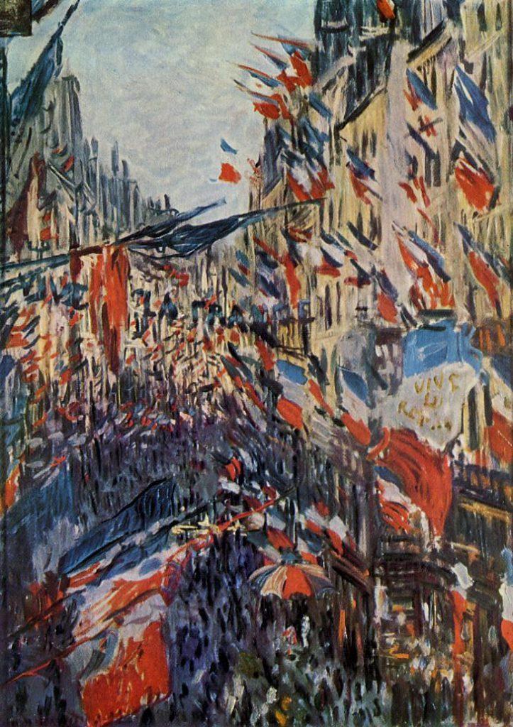 Claude Monet, 4IE-1879-154 La rue Saint-Denis, fête du 30 juin = CR470, 1878, The Rue Saint Denis, 30th of June 1878, 76x52, MBA Rouen (iR2;R22+R127,CR470;R2,p245;R90II,p135;M12,no.09.1.34)