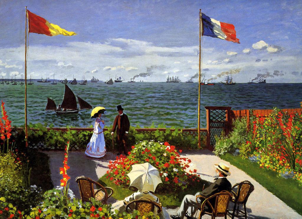 Claude Monet, 4IE-1879-157, Jardin à Sainte-Adresse (1867) = CR95, 1867, Garden at Sainte-Adresse, 98x130, Metropolitan (iR2;R22+R127,CR95;R2,p286;R90II,p135;R14,p159;M23,no.67.241)