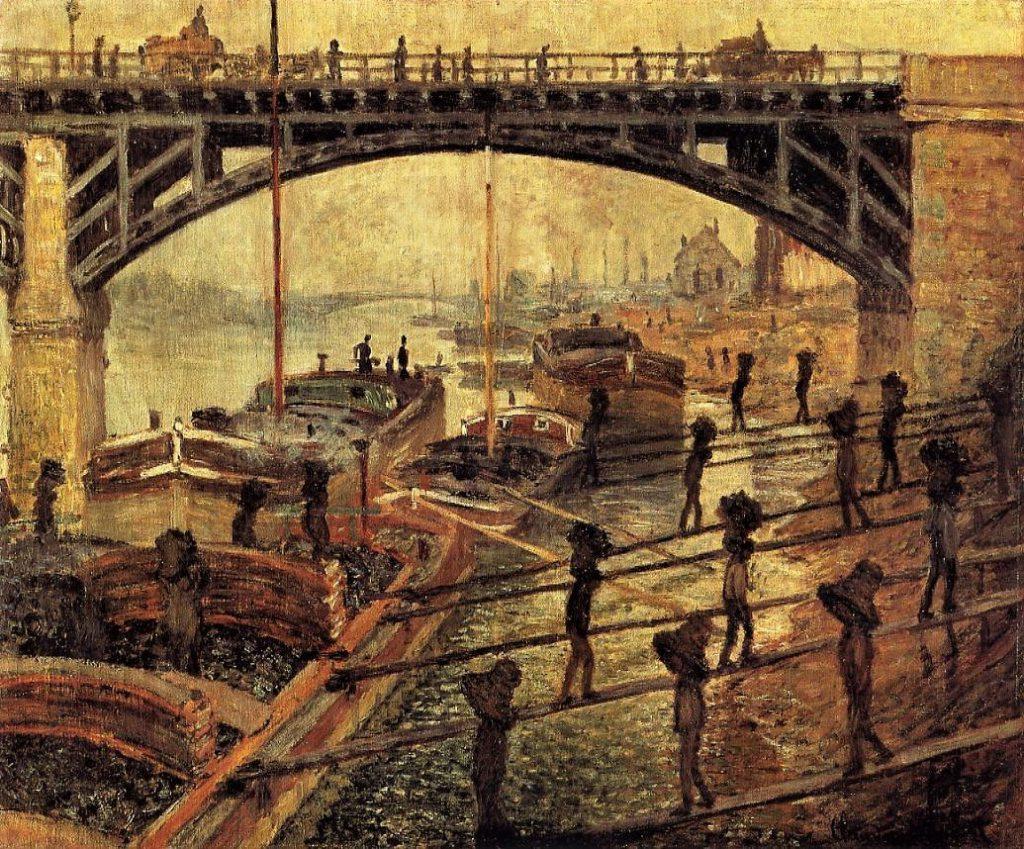 Claude Monet, 4IE-1879-158 Les Charbonniers (1875) = CR364, 1875, The Coal-Dockers, 55x66, Orsay (iR2;R22+R127,CR364;R2,p269;R90II,p135;M1,RF1993.21)