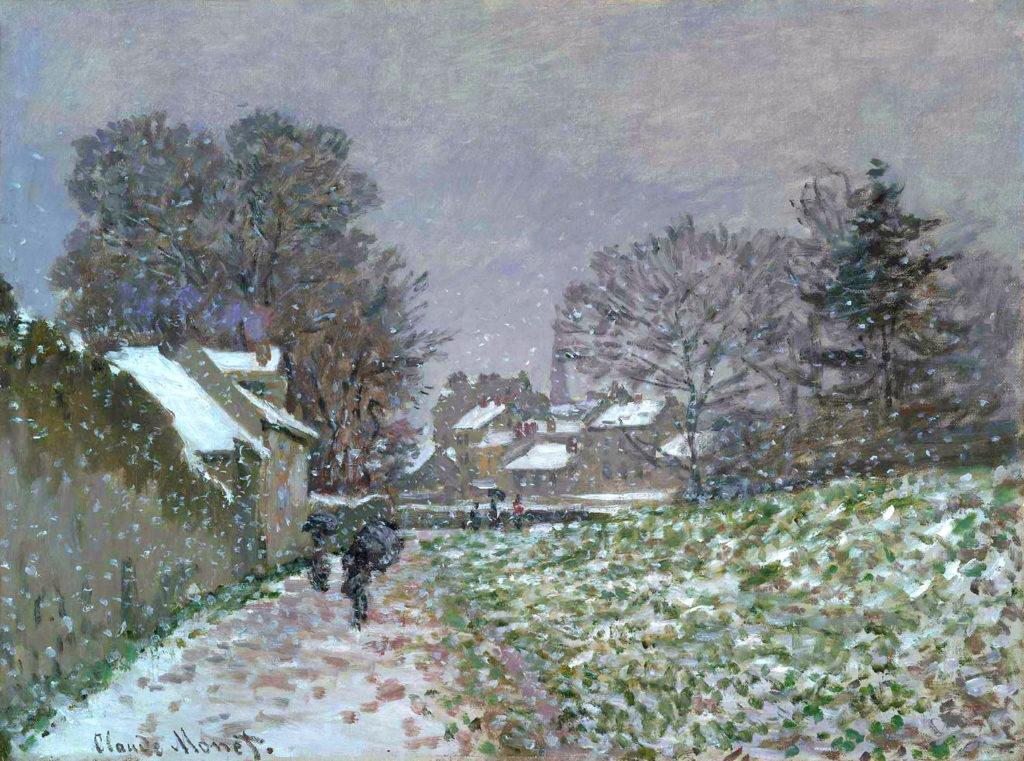 Claude Monet, 4IE-1879-159, effet de neige (1875) à Argenteuil. Maybe?: CR348, 1874, Snow at Argenteuil, 51x65, MFA Boston (iR51;R22+R127,CR348;R2,p269;M22,no.21.1329)