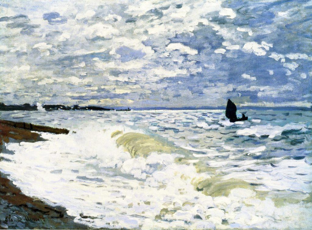 Claude Monet, 4IE-1879-163, Étude de Mer. Maybe: CR112, 1868, The Sea at Sainte-Adresse, 60x82, CMA Pittsburgh (iR2;R90II,p136;R2,p269;R22+R127,CR112;M35,no.53.22)