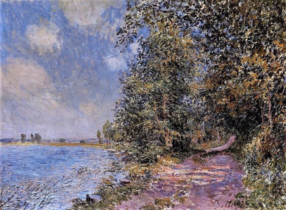 Alfred Sisley, 7IE-1882-163, Après-midi d'Août. Now: CR436, 1881, An August Afternoon near Veneux, 54x73, private (iR2;iR59;R90,p212)