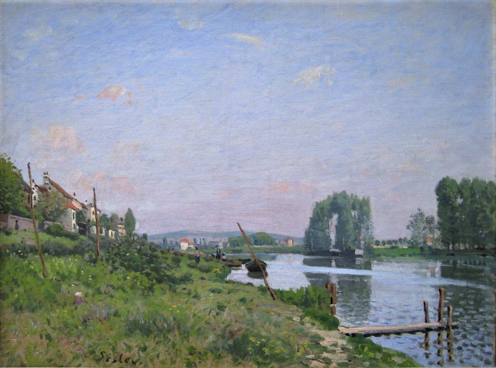 Alfred Sisley, 7IE-1882-178, La Seine à St-Denis. Maybe(?): 1872, CR47, The Island of Saint-Denis, 51x65, Orsay
