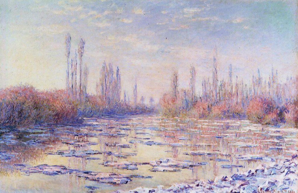 Monet, 7IE-1882-58, Les glaçons. Now: CR568, 1880, Floating Ice, 97x151, SM Vermont
