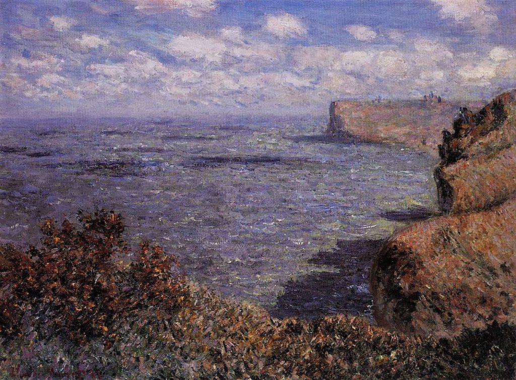 Claude Monet, 7IE-1882-61, sur falaise à Grainval. Perhaps: CR655, 1881, View Taken from Grainval, 61x81, private (iR2;iR51;R22,no655;R90II,p204+219;R2,p395)