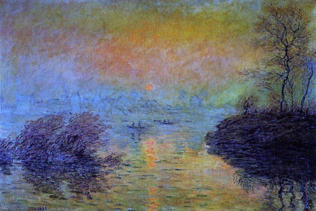 Claude Monet, 7IE-1882-62 soleil couchant, sur la Seine, effet d'hivier. Now: CR576, Sunset on the Seine (at Lavacourt), Winter Effect, 100x152, MPP Paris (iR2;iR51;R22,no576;R90II,p204+219;R2,p395+403;M4)