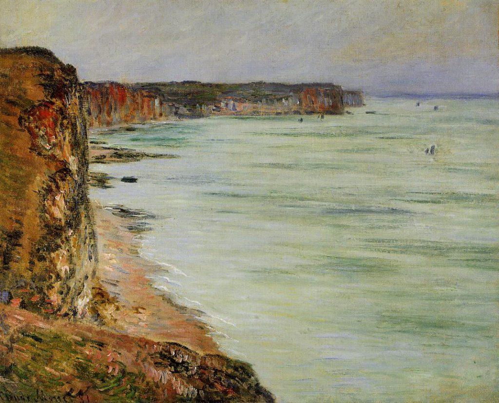 Claude Monet, 7IE-1882-66. Marée basse, vue prise sur les falaises. Probably: CR650, Calm Weather, Fécamp, 60x74, Km Basel (iR2;iR51;R22,no650;R90II,p205+220;R2,p395)