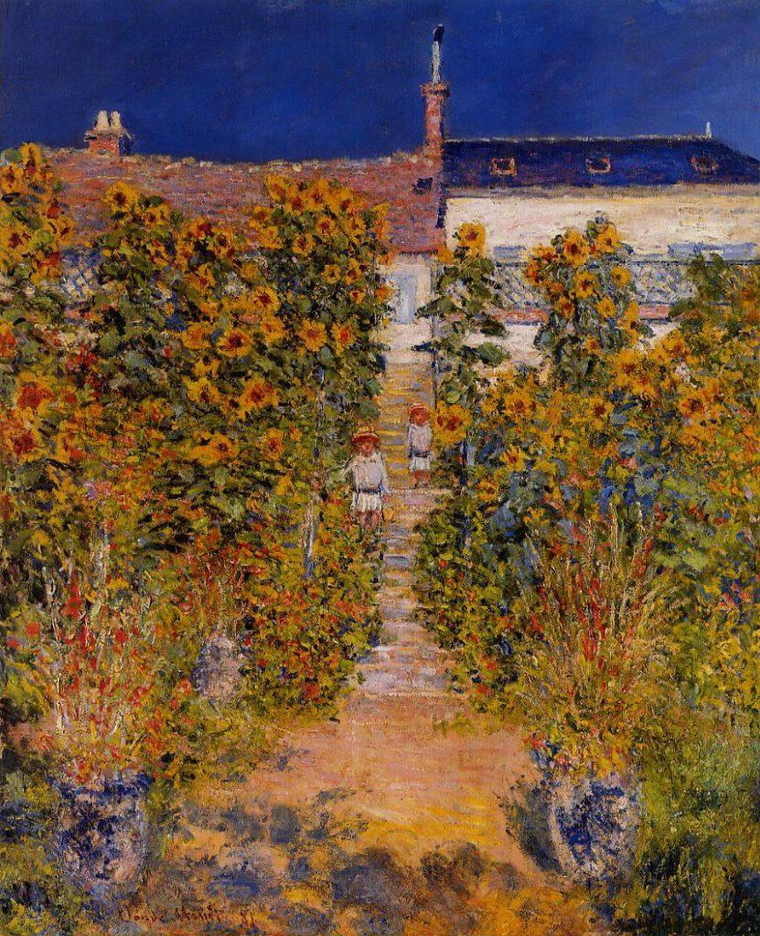 Claude Monet, 7IE-1882-70, Un coin de jardin à Vétheuil. Option 2 of 2: CR684, 1881, The Artist's Garden at Vétheuil, 100x80, private (iR2;iR51;R22,no684;R90II,p205+221;R2,p395)